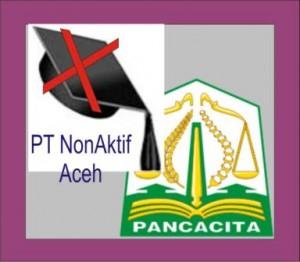 Daftar PT Non Aktif di Aceh